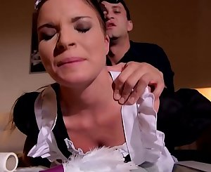 Petite maid Anita B. abased & ass fucked by her boss until she orgasms