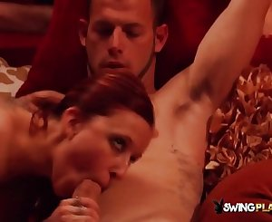 Laura and Brett get together with others for steamy pre party foreplay
