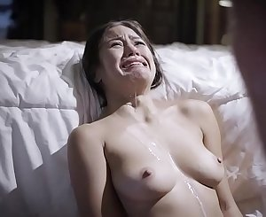 Crying exploited stepdaughter Kendra Spade drenched in sperm!