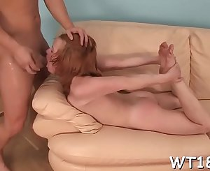 Seductive pretty gives groans on being screwed doggystyle