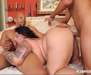 BBW Erika Xtasy Dual Penetrated  BY 2 Monster Cocks