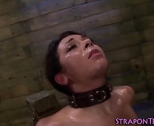 Les domina bangs tied sub
